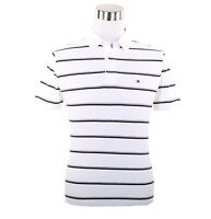Tommy Hilfiger Men Short Sleeve Custom Fit Stripe Pique Polo Shirt -$0 Free Ship