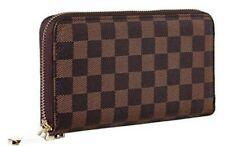 Rita Messi Luxury CHECKERED Zip Around Wallet Phone Clutch RFID BLOCKING VEGAN!!