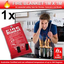 1x Australian FIRE BLANKET 1 X 1 M Australian Certified up to 340 Degrees