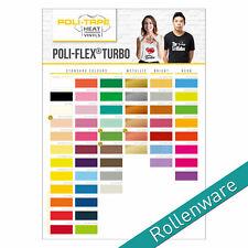 POLI-FLEX TURBO Flexfolie 30,5cm versch. Farben für T-Shirts - Meterware