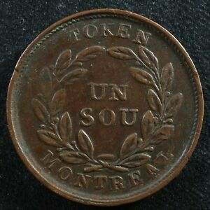 Halfpenny token Canadian Colonial #9 Free shipping Canada and the USA Week #19