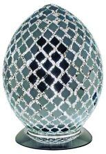 Mosaic Medium Egg Lamp - MIRRORED TILE Bedroom/Table Light Mood Lighting