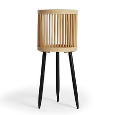 More details for btfy bamboo planter   rattan plant stand, bamboo plant pot on legs