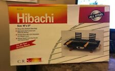 """New Hibachi All Steel Barbecue Charcoal Grill 10"""" x 17"""" Nib Never Opened"""