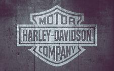 A4 Harley Davidson Motorcycle Stencil TShirt Furniture Airbrush Vintage MYLAR