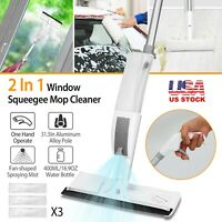 Spray Floor Mop With Reusable Microfiber Pad & Scraper for Home Kitchen Cleaning