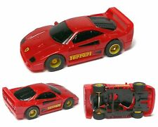 1991 TYCO Ferrari F-40 HO Slot Car Red BODY & VERY Detailed with PUSH CHASSIS A+