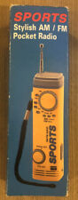 Sports Stylish AM/ FM Pocket Radio Hand Strap New Old Stock