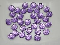 500 Purple Round Flatback Resin Dotted Rhinestone Gem beads 6mm