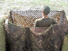 4m x 1.5m 3D Leafy Brown Camo Stealth Waterfowling Duck Hunting Hide Blind Net
