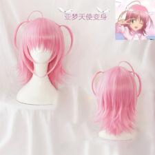 Shugo Chara Hinamori Amu Track Number+wig CAP Ponytail anime Pink Cosplay Wig