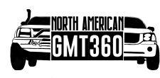 """North American GMT360 OFFROAD - Sticker -  Vinyl 23"""" White"""