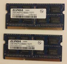 4GB (2x2GB) PC3-8500s DDR3-1066MHz 2Rx8 Unbuffered Elpida Sony Laptop Upgraded