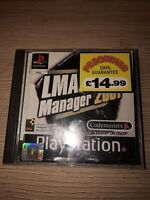 LMA Manager 2001 Sony PlayStation 1 Game PS1 PAL TESTED PS1 PS2 Black Label