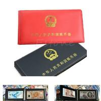 New Paper Money Collection Pockets Album Book Collecting Holders Storage