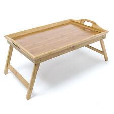Serviertablett Bambus pflegeleicht Betttablett robust klappbar Betttisch Tablett