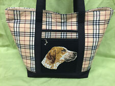 Beautiful Custom Embroidered Foxhound Tote