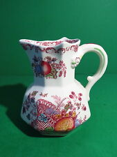 "Mason's England Fruit Basket Red Multicolor 5 1/8"" Small Hydra Jug Pitcher"