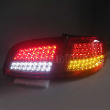 NEW LED Taillights For Hyundai New Santa Fe 2012-up Rear Lamps Clear Red Lens