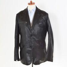 GIMO'S Lederjacke Leather Jacket Gr 56 Schwarz Black COOL Distressed Herbst Fall
