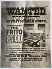 1968 Frito Bandito Wanted for Theft of Fritos Corn Chips - Vintage - MINT
