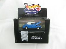 Hot Wheels 1999 Cool Collectibles 1948 Ford Convertible Met Blue Mint In Box