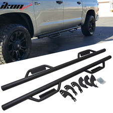 Fits 07-18 Toyota Tundra CrewMax Cab Side Step Bar Running Boards Nerf Bar Black