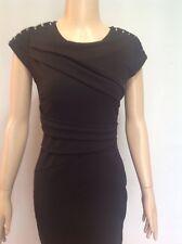 Lipsy Love Eyelet Shoulder Detail Dress Black Size 10 RRP £60
