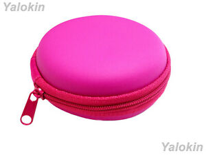 Hot Pink Leather Hard Carrying Case for Coins Currency Keys Remotes Lighters