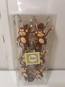 Circo Monkey Shower Curtain Hooks Brand New