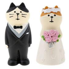 Humorous Wedding Cake Topper Figure Cat Bride/Groom Wedding Valentine's Gift