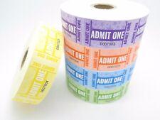 5 X Rolls of 1000 Admit One Admission Tickets – bsg Admit5