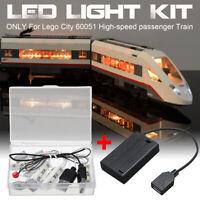 LED Light Lighting Kit ONLY For Lego City 60051 High-speed passenger Train Brick