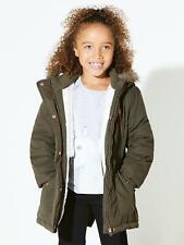 New John Lewis Girls Parka Coat, Khaki Green, RRP £36