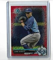 Jaime Schultz Tampa Bay Rays 2017 Bowman chrome red shimmer parallel 5/5 BCP133