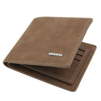 Men's Trifold Leather Wallet Short Purse with RFID Blocking Credit Card Holders