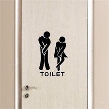 Removable Bathroom Decals Toilet Wall Sticker Vinyl Art Sex Sign CA