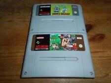 2 Games: Taz-Mania + Tiny Toons Buster - Modul/cartridge Super Nintendo SNES