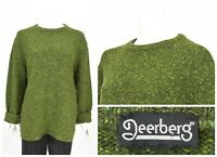 Womens Deerberg New Wool Oversized Knit Sweater Jumper Green Size L
