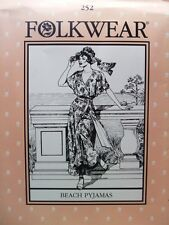 Folkwear 252 Beach Pyjamas Resort Wear 1920s 1930s Sewing Costume Pattern