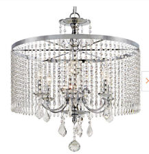 Home Decorators 6-Light Polished Chrome Chandelier with K9 Crystal Dangles