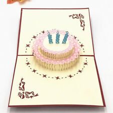 3D Cake Hollow Cake Wedding Greeting Blessing Card LL