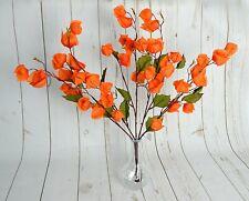 Artificial Chinese Lanterns Flower Bunch x 5 stems arrangements autumn tropical
