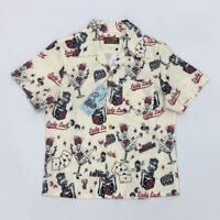 BOB DONG Las Vegas Lady Luck Printed Hawaiian Shirts Aloha Short Sleeve For Men