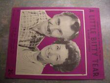 "Vintage sheet music, ""A little bitty tear"", Miki & Grff"