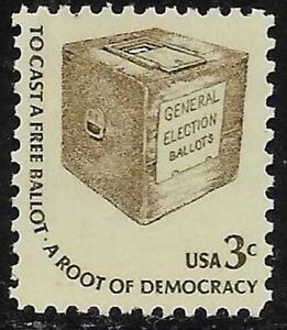 Scott 1584 US Stamp 1977 3c Early Ballot Box MNH Americana Series Dull Gum