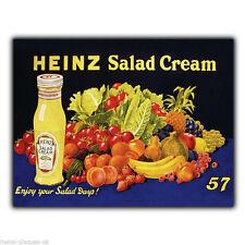 Metal Sign Wall Plaque Heinz Salad Cream Retro Vintage poster picture c1930's