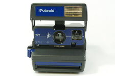 Polaroid 636 blue instant camera boxed 600 film tested Ref.72173
