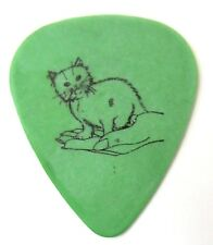 Foo Fighters Nate Mendel 2012 Tour guitar pick green with kitten