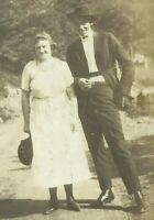 West Virginia Husband Wife Appalachia 1915 Antique Photo
